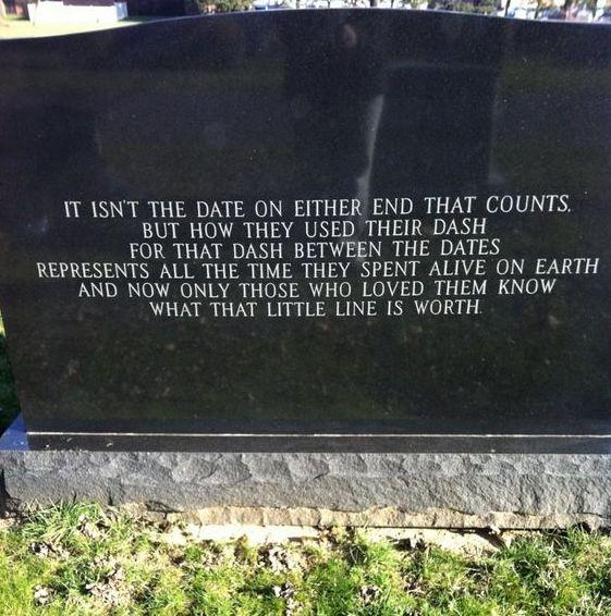 dash gravestone